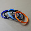 Slim Silicone Wristbands (6mm wide) with custom text image