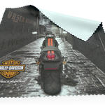 Extra large microfiber car cleaning cloth with custom print image