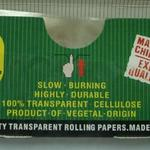 Standard sized transparent rolling papers in custom branded packaging (78x36mm) image