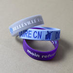 Wide silicone wristbands (19mm) with bespoke design image